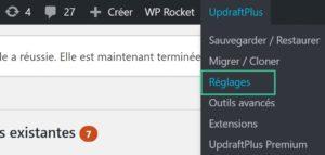 Configurer UpdraftPlus pour WordPress