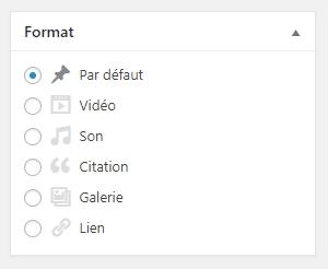 Format de publication WordPress
