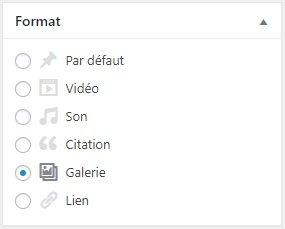Utiliser le format de publication Galerie dans WordPress